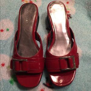 Red Calvin Klein Sandals Sz 6